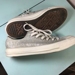 Converse Women's Size 7 Sparkly Silver Shoes